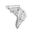sketch piece of pizza vector image