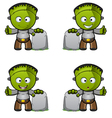 Monster Thumb Up With Gravestone vector image