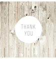 thanks card on wooden texture vector image vector image