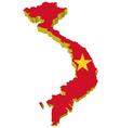 3d map of vietnam vector image