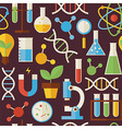 Flat Seamless Pattern Education Science and vector image