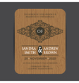 wooden wedding invite card vector image vector image