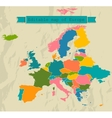 Editable map of Europe with all countries vector image
