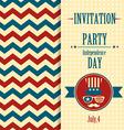 American invitation vector image