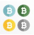 bitcoin symbol icons design vector image