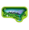 green environment creative idea concept vector image