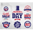 Happy presidents day sale sign vector image