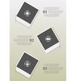 Infographics design with Polaroid frames vector image