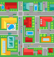 map of town top view background pattern vector image