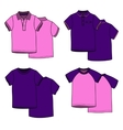 Pink and puple t-shirts vector image