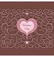 Vintage Heart Pattern vector image