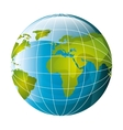 world planet earth map vector image