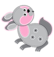 cute cartoon isolated fabric animal rabbit vector image