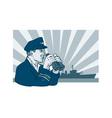 Captain Binoculars vector image