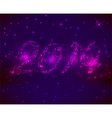 2014 pink background vector image