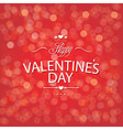 Valentines Day Red Bokeh Background vector image vector image