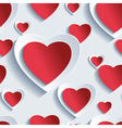 Valentines Day seamless pattern 3d hearts vector image