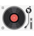 Vinyl turntable Flat vector image vector image