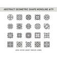 abstract geometric shape monoline 79 vector image