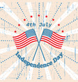 american independence day 4 th july greeting card vector image