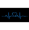 Cardiogram of love vector image