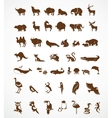 Collection of animal icons vector image