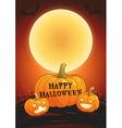 Happy Halloween full moon poster vector image