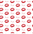 imprint of lips a kiss red lipstick seamless vector image