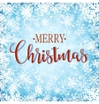 Merry christmasn background with snowflakes vector image