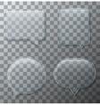 modern glass bubble speech set vector image