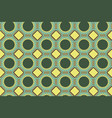 seamless geometric pattern in shades of green vector image