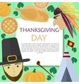 set for Thanksgiving Day in a flat style vector image