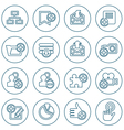 Thin line web icons set vector image