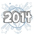 doodle pop new year vector image vector image