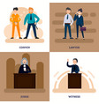 people in court square composition vector image