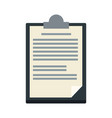 clipboard paper report document business vector image