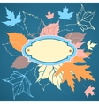 Decorative frame with falling leaves vector image