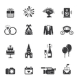 Black wedding icons vector image