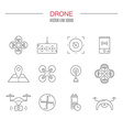 Drone Icon Collection vector image