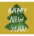 Christmas tree child drawing gold new year card vector image