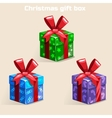 Colors Christmas gift box vector image