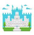 flat design cibeles palace madrid vector image