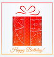 happy birthday card with gift gradient vector image