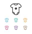of infant symbol on bodysuit vector image