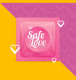 realistic 3d detailed condoms package safe love vector image