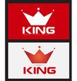 Red king crown logo design vector image