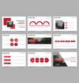red square abstract presentation templates vector image