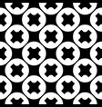 seamless pattern crosses circles vector image