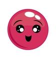 happy face cartoon expression icon graphic vector image
