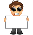 Business Man Blank Sign 11 vector image